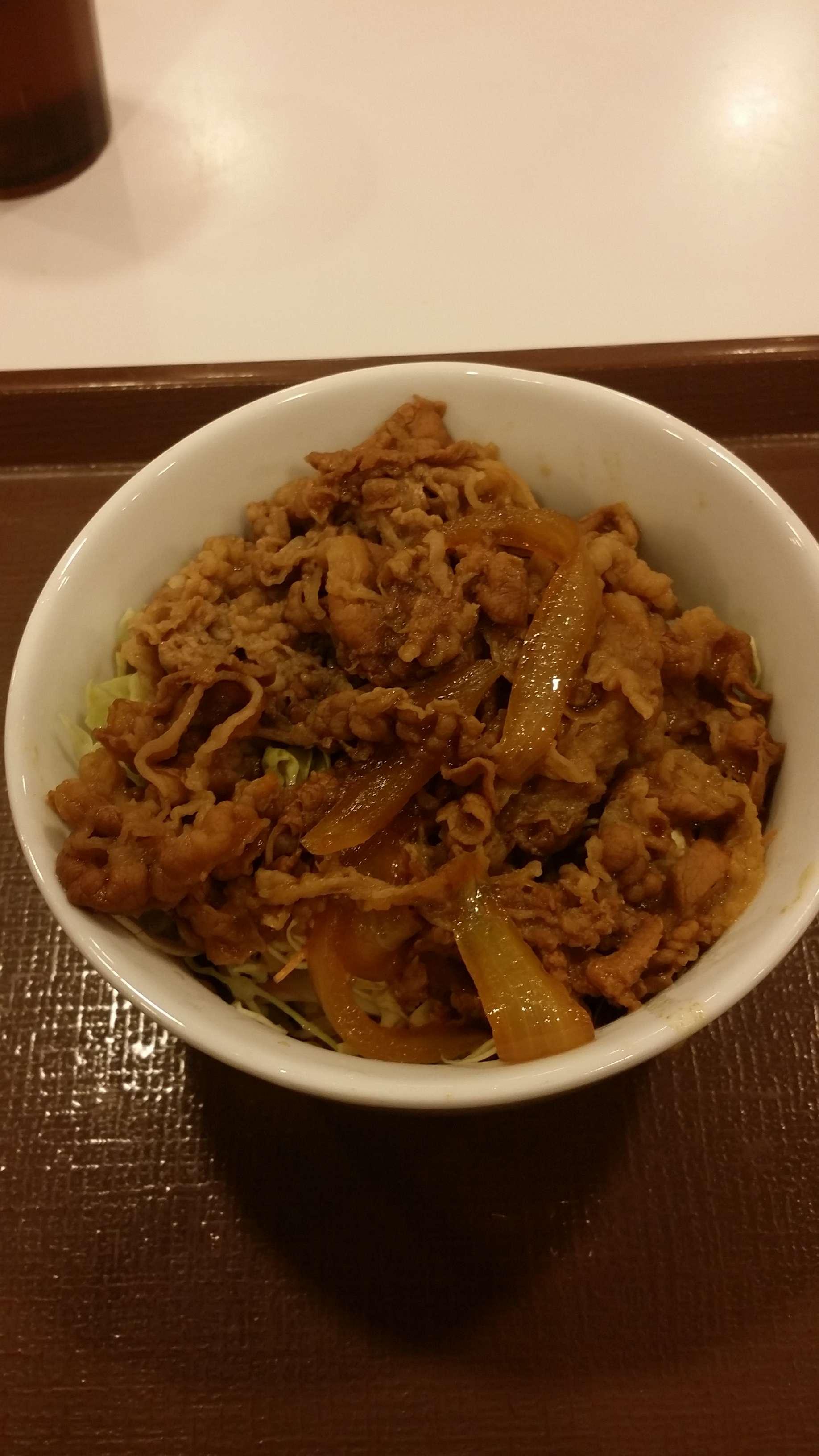 【糖質制限ダイエット食その1】 すき家牛丼ライト 糖質量16.1g