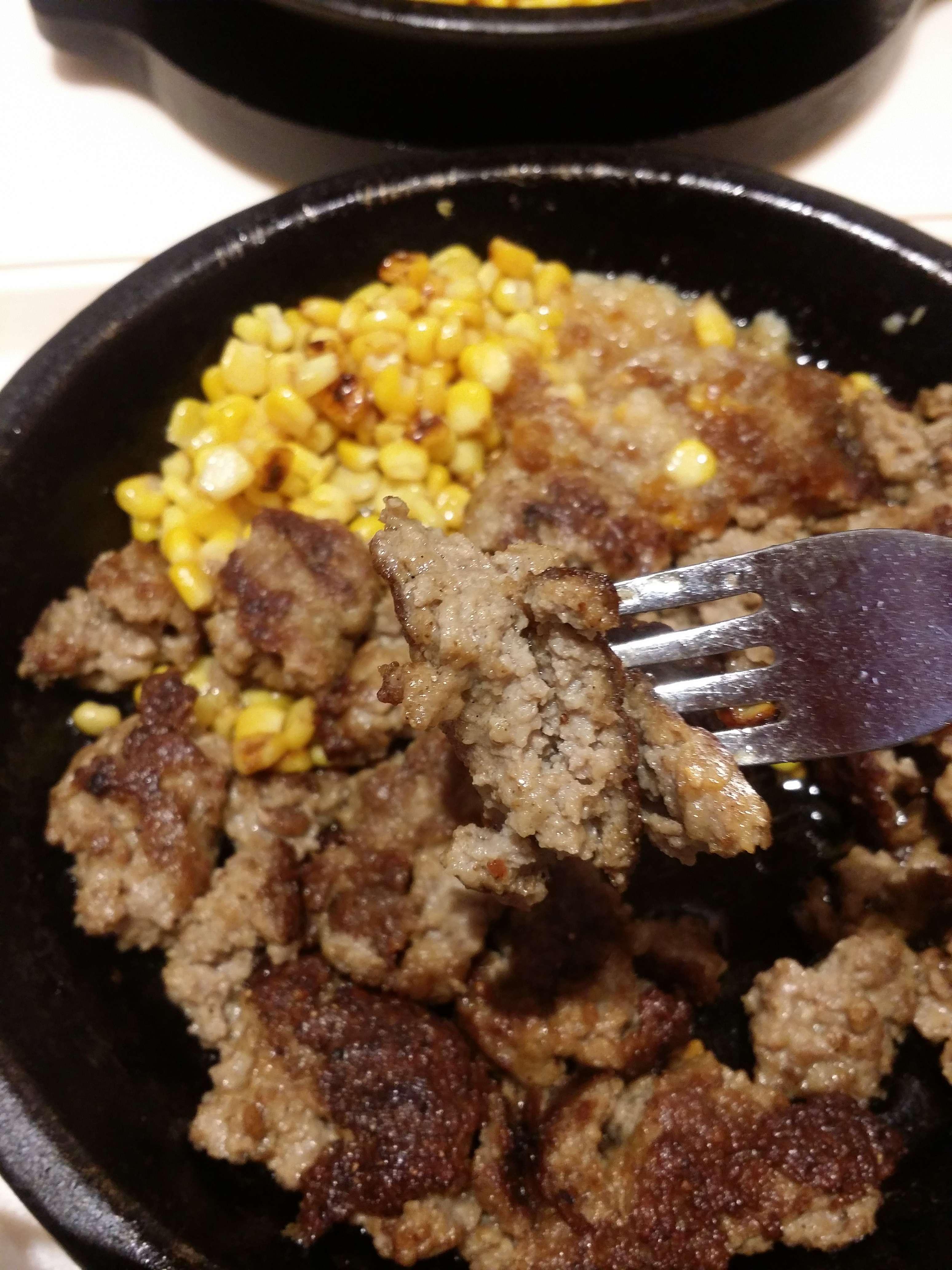 【糖質制限ダイエット食その4】いきなりステーキ ワイルドハンバーグ 糖質量36.0g